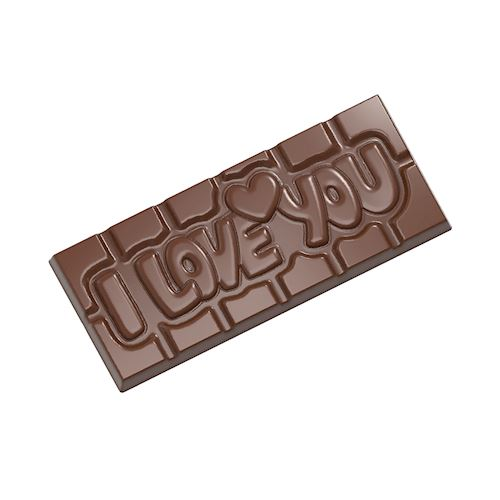 Chocoladevorm tablet I love you