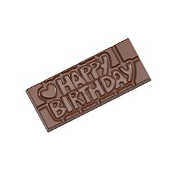 Chocoladevorm tablet Happy Birthday