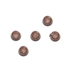 Chocoladevorm smiley praline 5 fig.