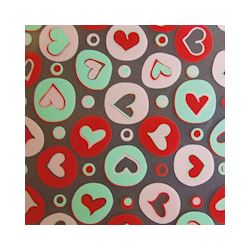 Transferts voor magneetvorm 135 x 275 mm colored hearts